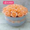 Kép 1/3 - Illatos rózsabox barackszínű - deluxe 26 szálas