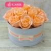 Kép 1/3 - Illatos rózsabox barackszínű - 18 szálas