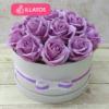 Kép 1/3 - Illatos rózsabox lila - 18 szálas