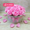 Kép 1/3 - Illatos rózsabox pink - 18 szálas