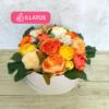Kép 1/3 - Illatos virágbox narancssárga - deluxe