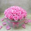 Kép 1/3 - Pink rózsabox - deluxe - 26 szálas