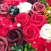 Kép 3/3 - Piros szappanvirág doboz