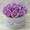 Kép 1/3 - Lila rózsabox - 18 szálas