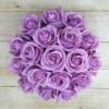 Kép 2/3 - Illatos rózsabox lila - 18 szálas