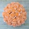 Kép 2/3 - Illatos rózsabox barackszínű - deluxe 26 szálas