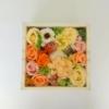 Kép 2/2 - Barackszínű szappanvirág doboz gyertyával