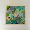 Kép 2/3 - Türkizkék szappanvirág doboz gyertyával