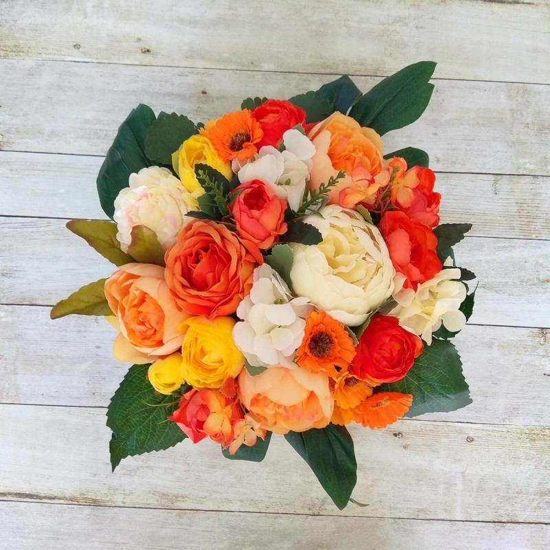 Illatos virágbox narancssárga - deluxe