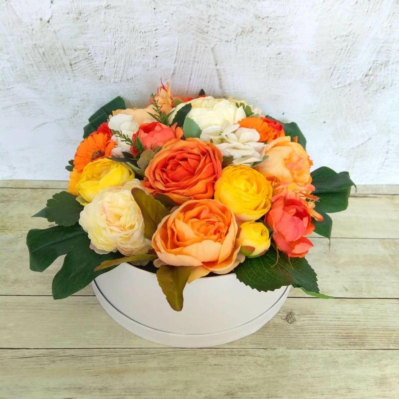 Narancs virágbox - deluxe