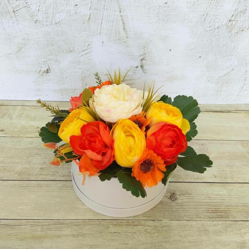 Narancssárga virágbox - mini