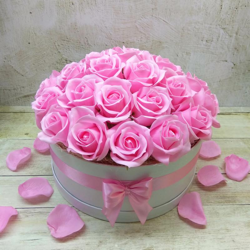 Pink rózsabox - deluxe - 26 szálas