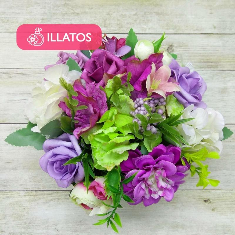 Illatos virágbox lila - mini