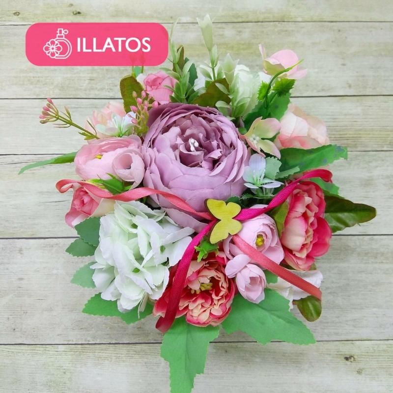 Illatos virágbox rózsaszín - mini