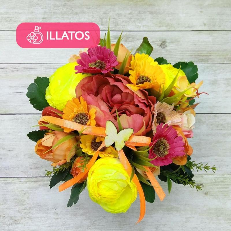Illatos virágbox többszínű - mini