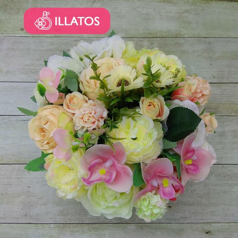 Illatos krémszínű virágbox