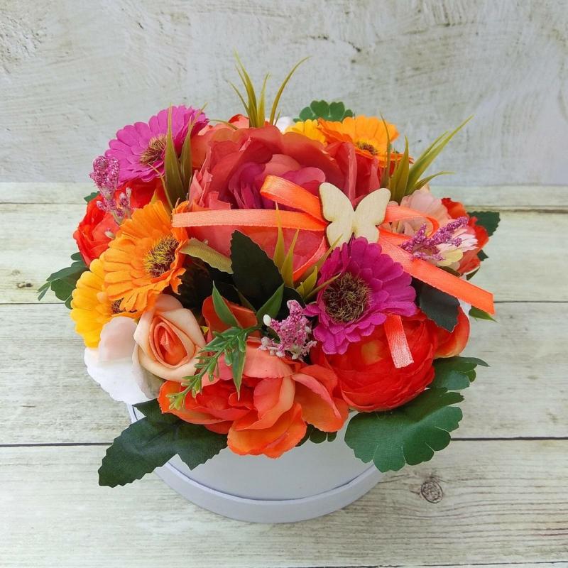Többszínű virágbox - mini